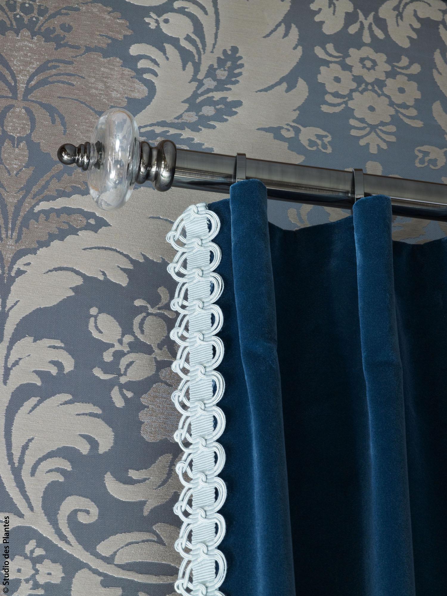 PLAZA trimmings - EDEN & EPIDAURE fabrics - LUCIA hardware/HOULÈS