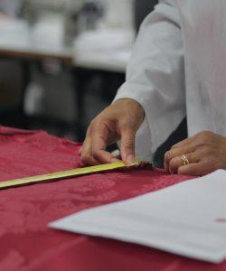 Travail préparatoire à la confection -Phelippeau tapissier